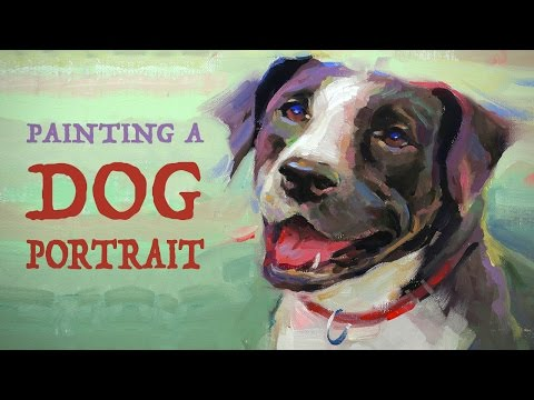 How to Paint a Dog Portrait - Helping Animal Shelters
