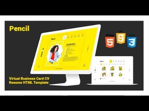 Pencil virtual business card cv resume html template themeforest pencil virtual business card cv resume html template themeforest templates fbccfo Gallery