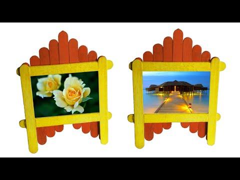 Pop Stick Photo Frame : Tcraft - YouTube