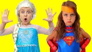 Princess Elsa turns Into Supergirl | Super Elsa
