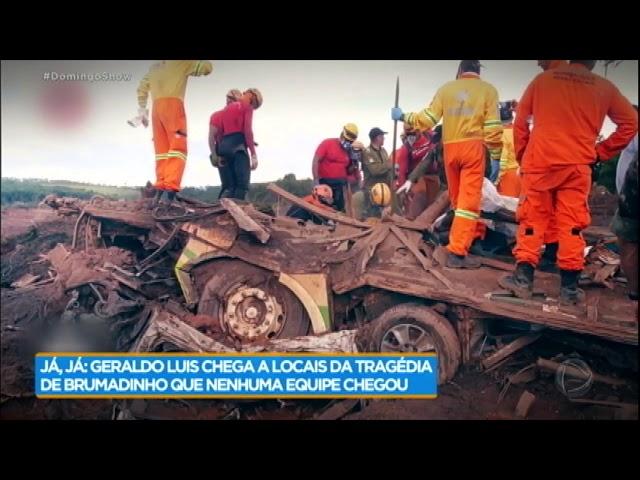 Geraldo Luís acompanha de perto o trabalho dos bombeiros em Brumadinho (MG)