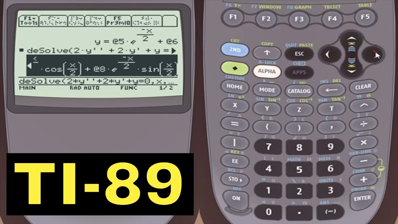 Ti 89 Calculator 26 Solving Differential Equations Youtube