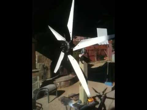 Ceiling fan wind turbine with wind jammer blades installed youtube ceiling fan wind turbine with wind jammer blades installed aloadofball Choice Image
