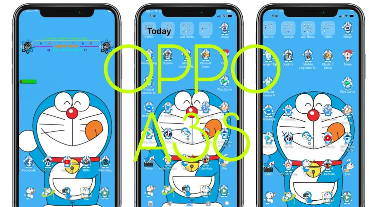 Theme Doraemon for oppo a3s