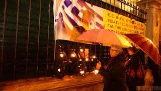 Митинг памяти Афанасия Коссе 11/12/14(В Афинах перед МИД Греции прошел митинг памяти журналиста Афанасия Коссе. Афанасий погиб возле донецкого..., 2014-12-12T09:43:02.000Z)