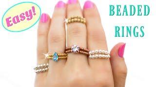 إنشاء الخاصة بك خاتم كريستال الخرز! DIY الخاتم (مجانا صنع المجوهرات الدروس)
