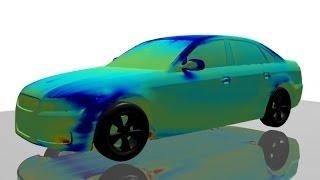 HELYX® Adjoint Solver - Drag Surface Sensitivities for Passenger Car