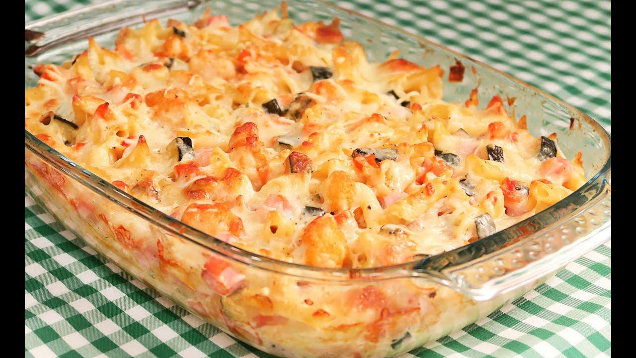 Pastel de verduras y macarrones gratinado s per delicioso youtube - Macarrones con verduras al horno ...