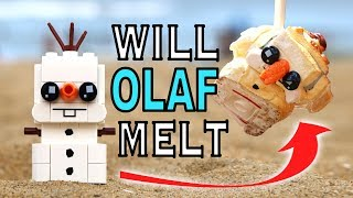 DO LEGO BRICKHEADZ MELT? - Melting a LEGO Olaf
