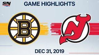 NHL Highlights   Bruins vs. Devils - Dec. 31, 2019