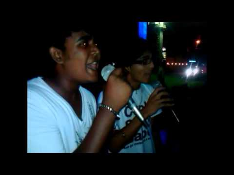 Karaoke Singing In Guyana , Me And Kelvin (Chasing Cars & Collide)