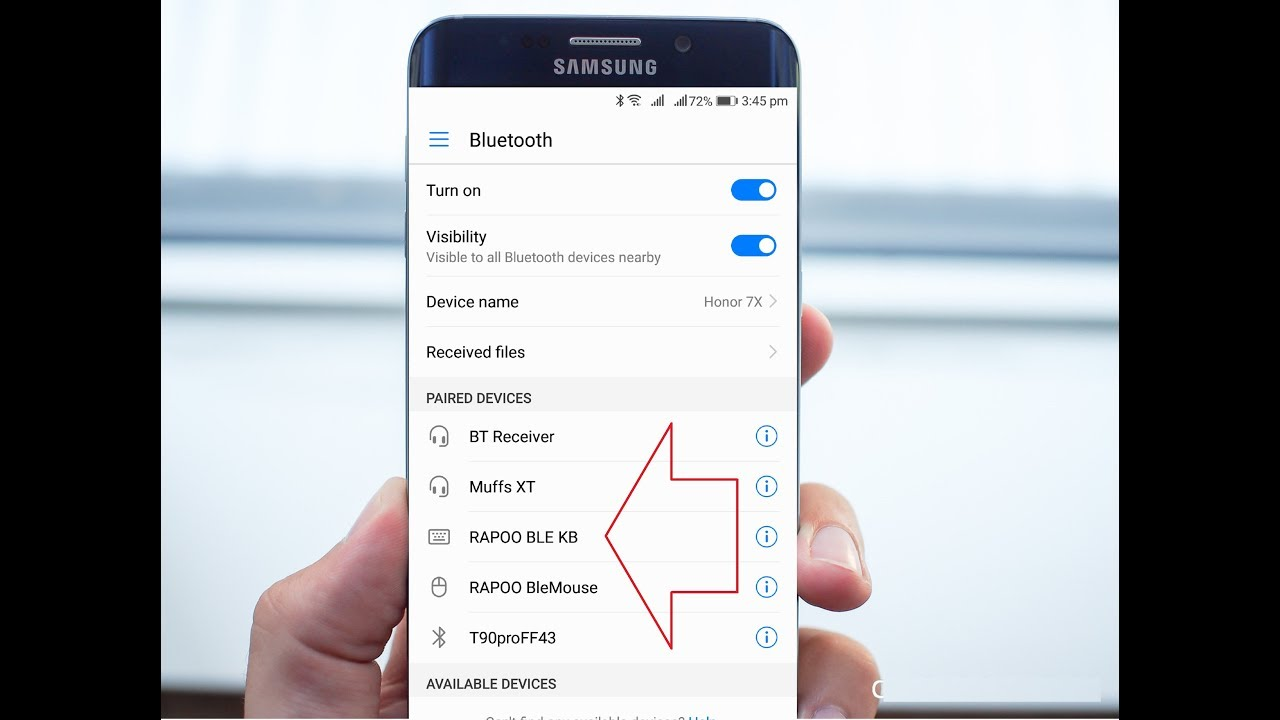 Clear Unwanted Bluetooth Devices List from Android Phone