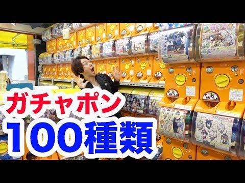 ガチャポン専門店でガチャ100種類やるまで帰れません!