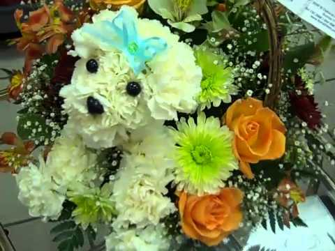 Puppy Dog Flower Arrangement