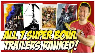 All 7 Super Bowl 2021 Trailers Movie & TV Trailers Ranked!