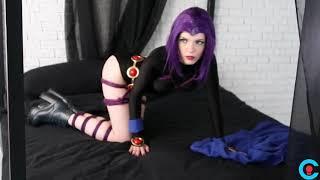 Raven | Teen Titans Shibari Cosplay Backstage - Cosplai Idols