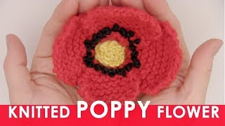 Your Free Poppy Flower Knitting Pattern 💖 Remembrance for Veterans