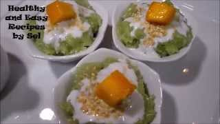 Sweet Rice in Pendant Coconut Milk with Mango Dessert Recipe Part 2
