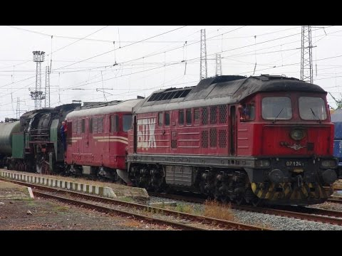 Steam and Class 07 Russian Diesels in Bulgaria – Kermen to Svilengrad