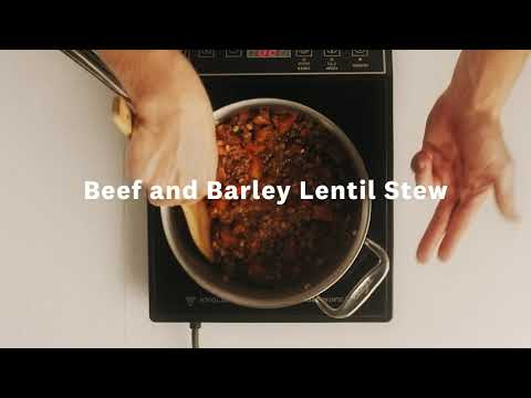 Thumbnail to launch Beef & Barley Lentil Stew video