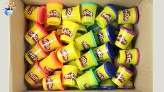 Learning Color full box of play doh play video for kids