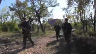 Vojna na Ukraine boje v popredí mesta Doneck