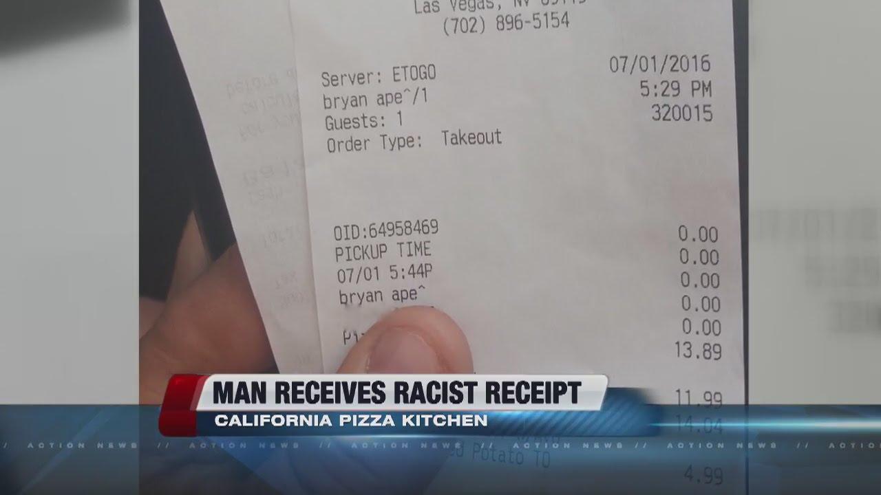 Man says California Pizza Kitchen typed racial slur on receipt ...