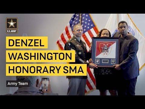 Denzel Washington Named Honorary Sergeant Major of the Army