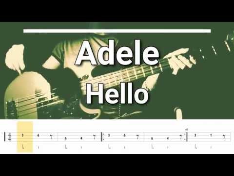 Adele - Hello [TABS] bass cover