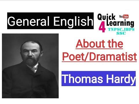 Thomas Hardy - About the Poet - TNPSC English Grammar | Literary Works Thomas Hardy |