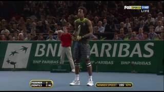 Federer - Monfils Paris 2010 semifinal