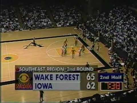 03/21/1993 SE Regional 2nd Round: #5 Wake Forest Demon Deacons vs ...