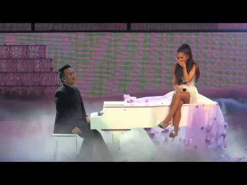 Ariana Grande gets emotional during My Everything