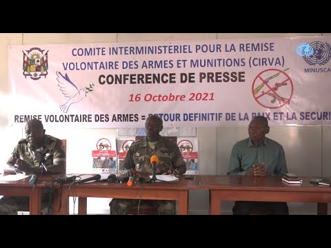 Conférence de presse du Comité interministériel de remise volontaire d'armes