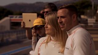 Couple say 'I vroom after driving Renault Sport Formula One Car