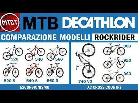 Mtb Decathlon Comparazione Modelli Rockrider Btwin 520 520s 540 540s