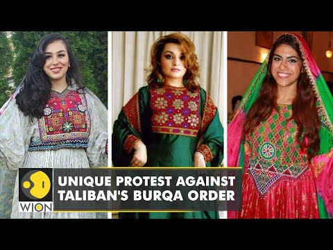 Afghan women post photos in traditional attire to protest Taliban's burqa order   WION English News