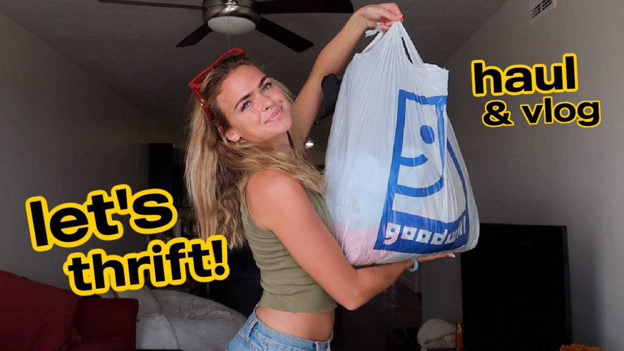 Day in The Life / come thrift with me! & try on haul!