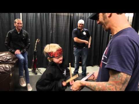 9 yr old Fan Kieran Howden Meets Godsmack in Regina, SK!