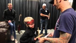 9 yr old Fan Kieran Howden Meets Godsmack in Regina, SK!