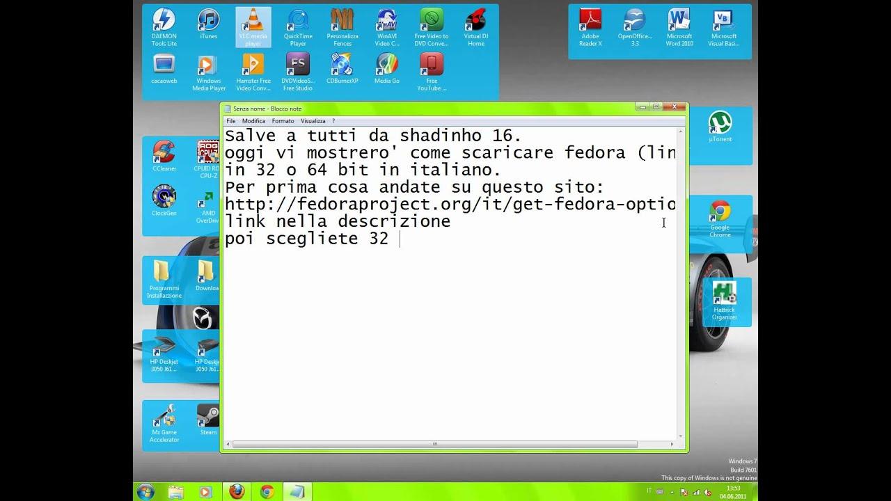 Come scaricare fedora 15 (linux) in italiano 32 bit o 64 bit