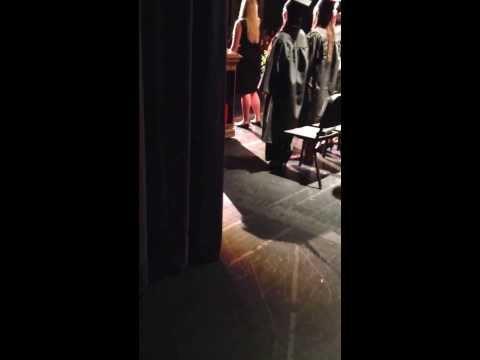 The National Anthem Nursing graduation 2013