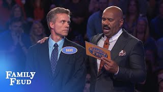 Dave needs 145 points for a huge Fast Money comeback! | Family Feud
