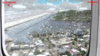 Realistic Flight Simulator X Movie, Airbus A300 Landing at Cairns in Bad Weather