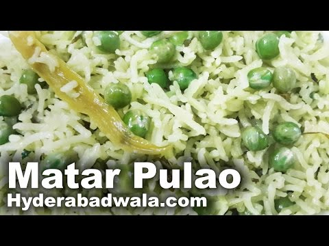 Matar Pulao Recipe Video – How to Make Grean Peas Rice – Easy & Simple Cooking