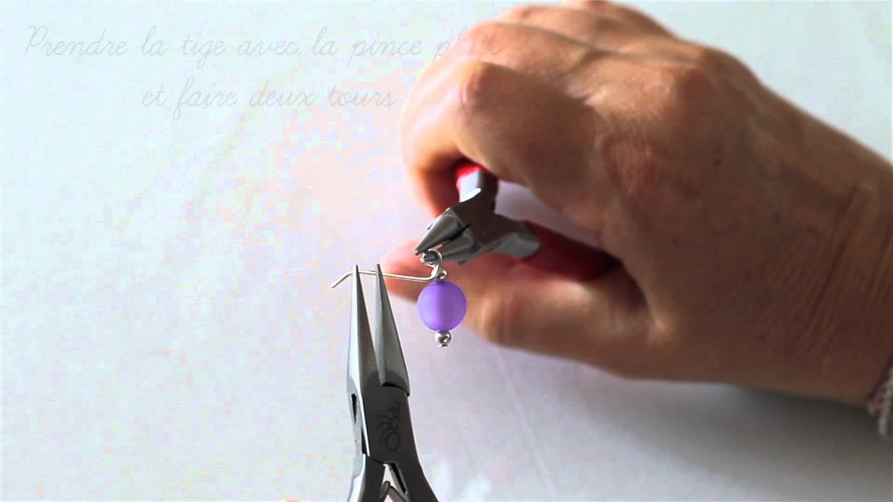Atelier cr ation bijoux 2 boucle sur tige en queue de - Queue de cochon outil ...