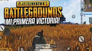MI PRIMERA VICTORIA POR FIN!! PUBG Playerunknows OFICIAL Android & iOS!