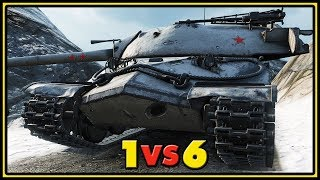 IS-7 - 1 VS 6 - World of Tanks Gameplay