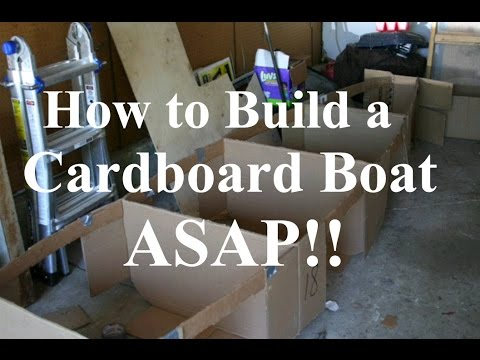 How to Build a Cardboard Boat ASAP!! - Tutorial - YouTube
