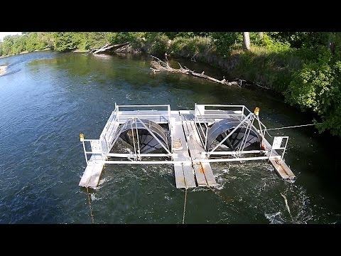 Rotary Screw Traps - Salmon Catcher - American River At Watt Ave.  Vision Plus